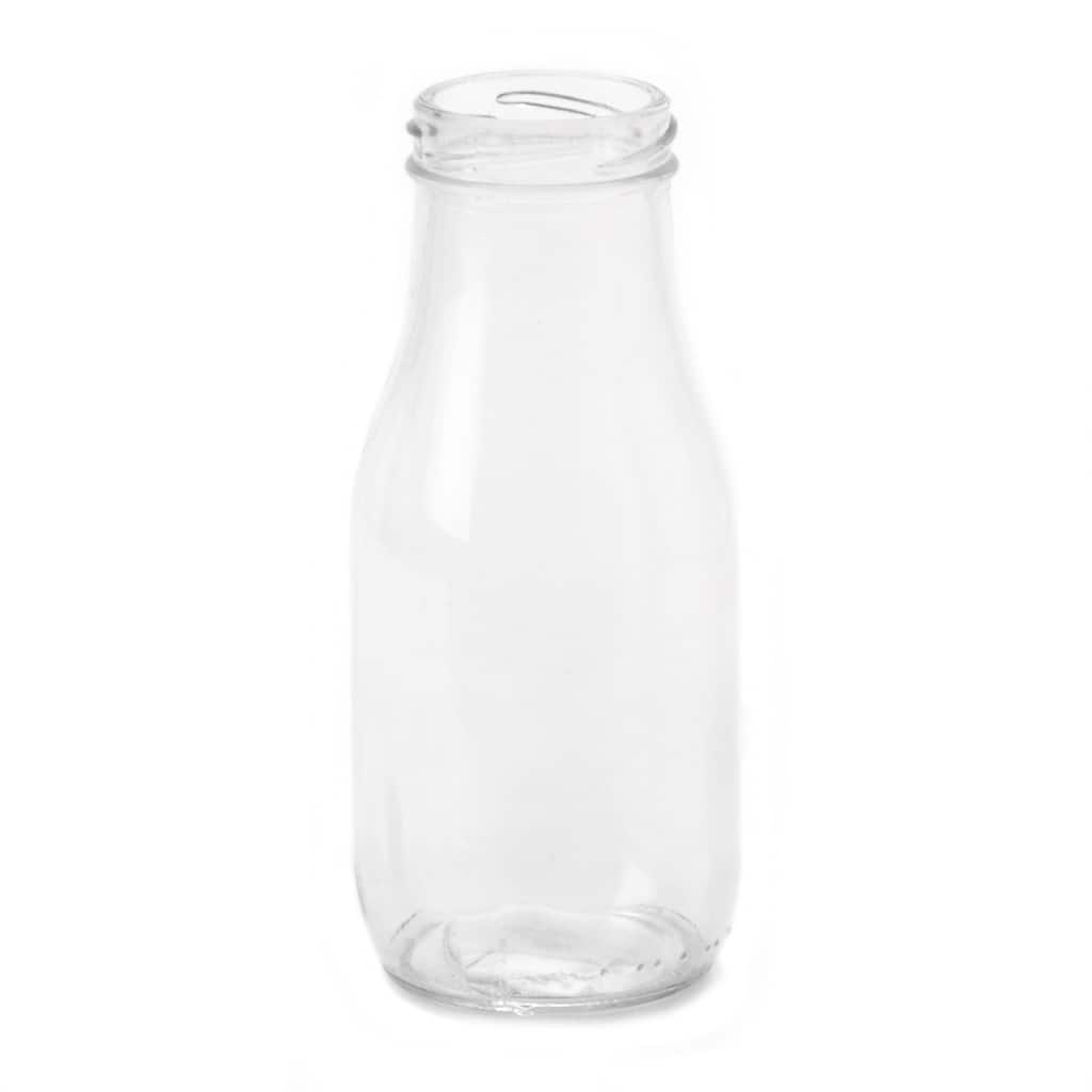 10oz Old Fashioned Glass Milk Bottle