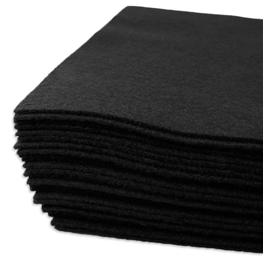Black Felt Squares