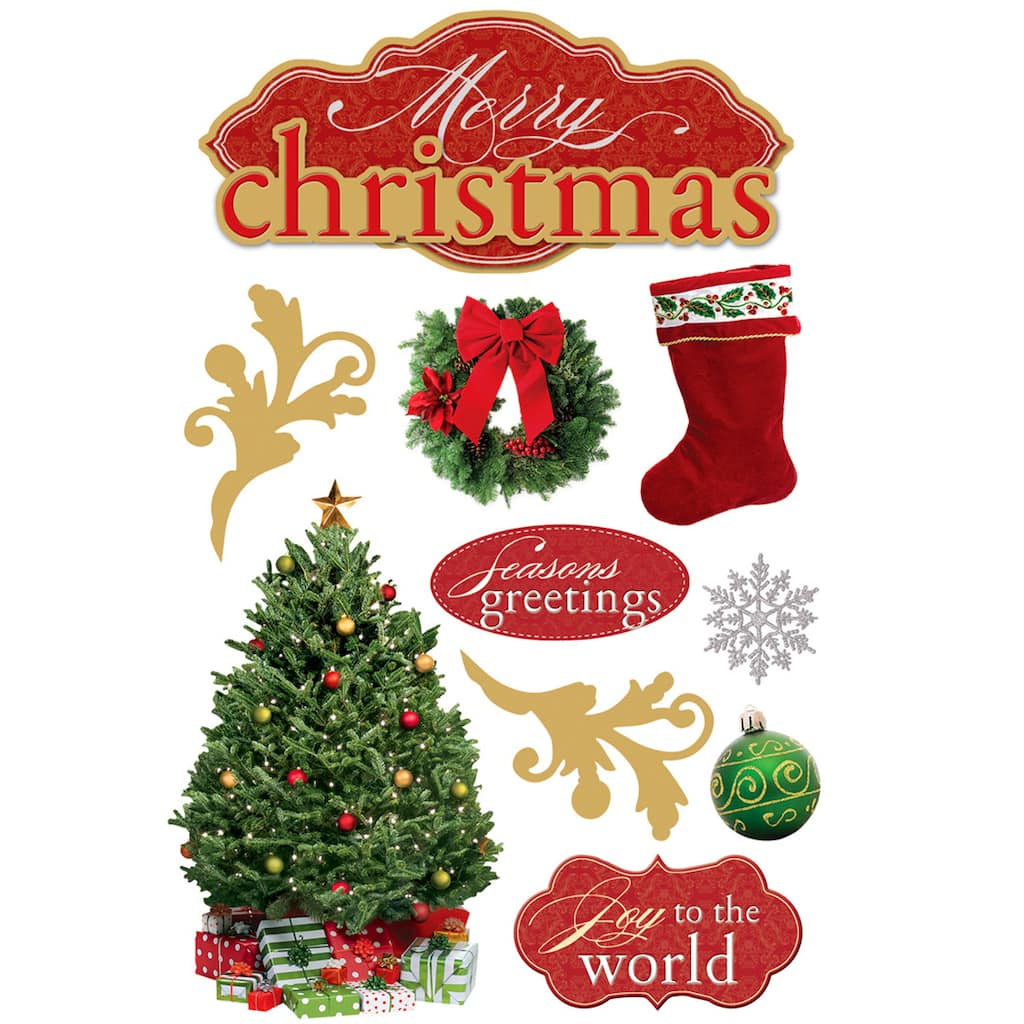Paper House 3d Stickers Merry Christmas