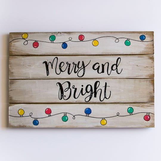 Christmas Sign.Sharpie Oil Based Paint Markers Fine Point Primary Set