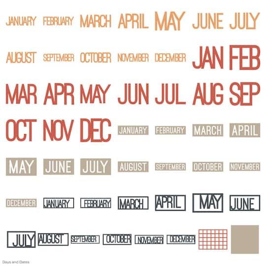Cricut® Days & Dates Cartridge