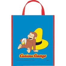 13 X 11 Large Plastic Curious George Goo Bags 12ct