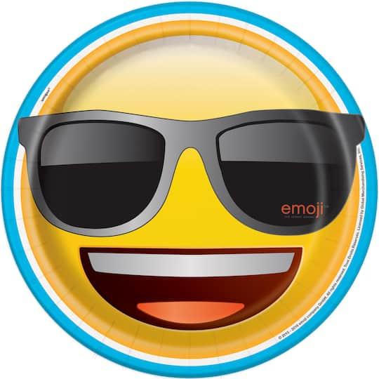 Sunglasses Emoji Paper Plates