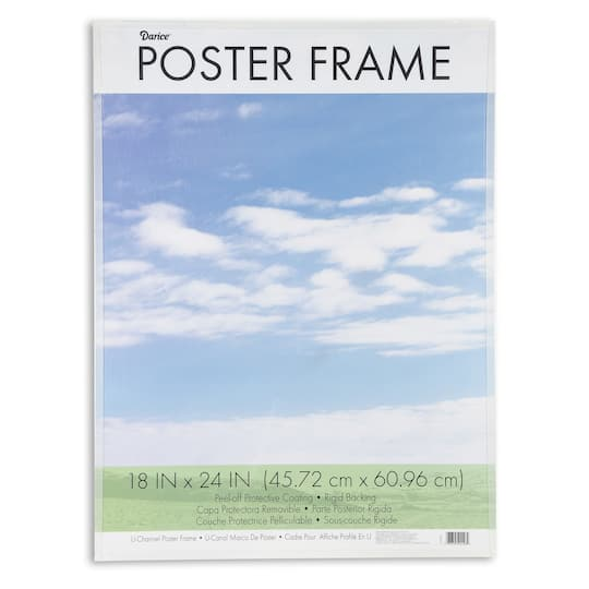 Poster Frame Clear Plastic U Channel 18 X 24 Inches