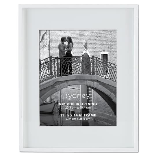White Sydney Frame With Mat by Aaron Brothers
