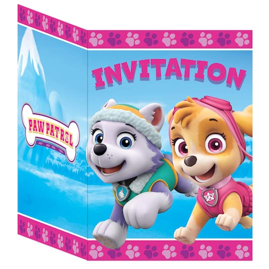 Girl PAW Patrol Invitations 8ct Img