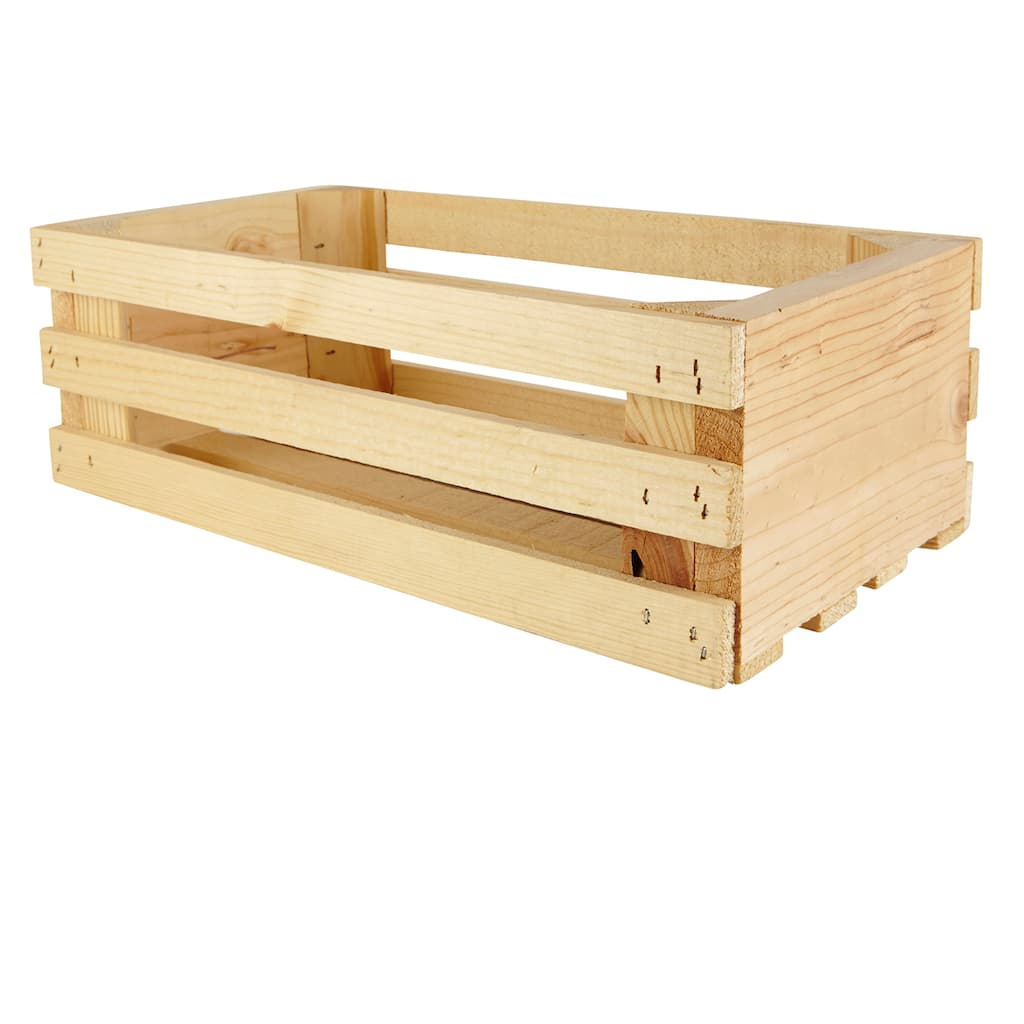 Medum Corner Post Wood Crate By Artminds
