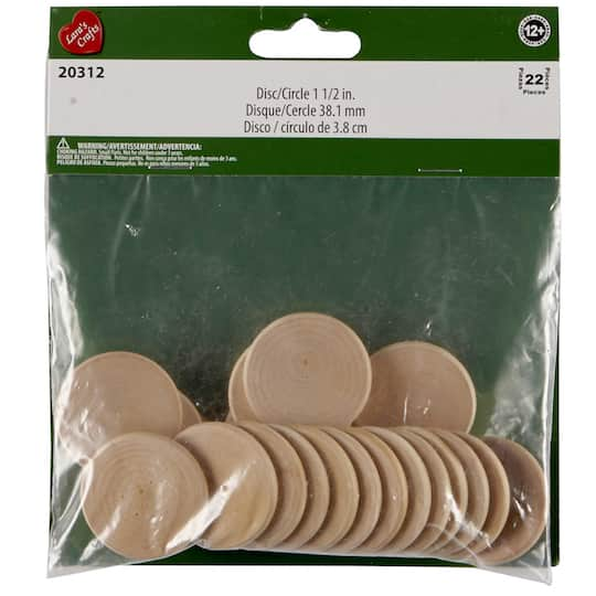 1 5 Wood Discs By Artminds