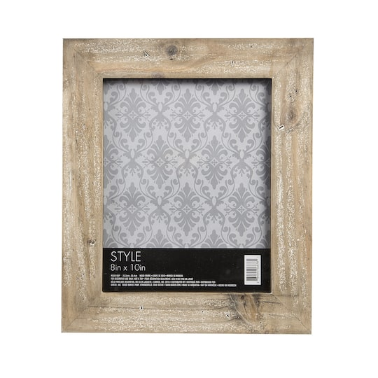 8x10 Picture Frame: Whitewashed Wide Barnwood Frame