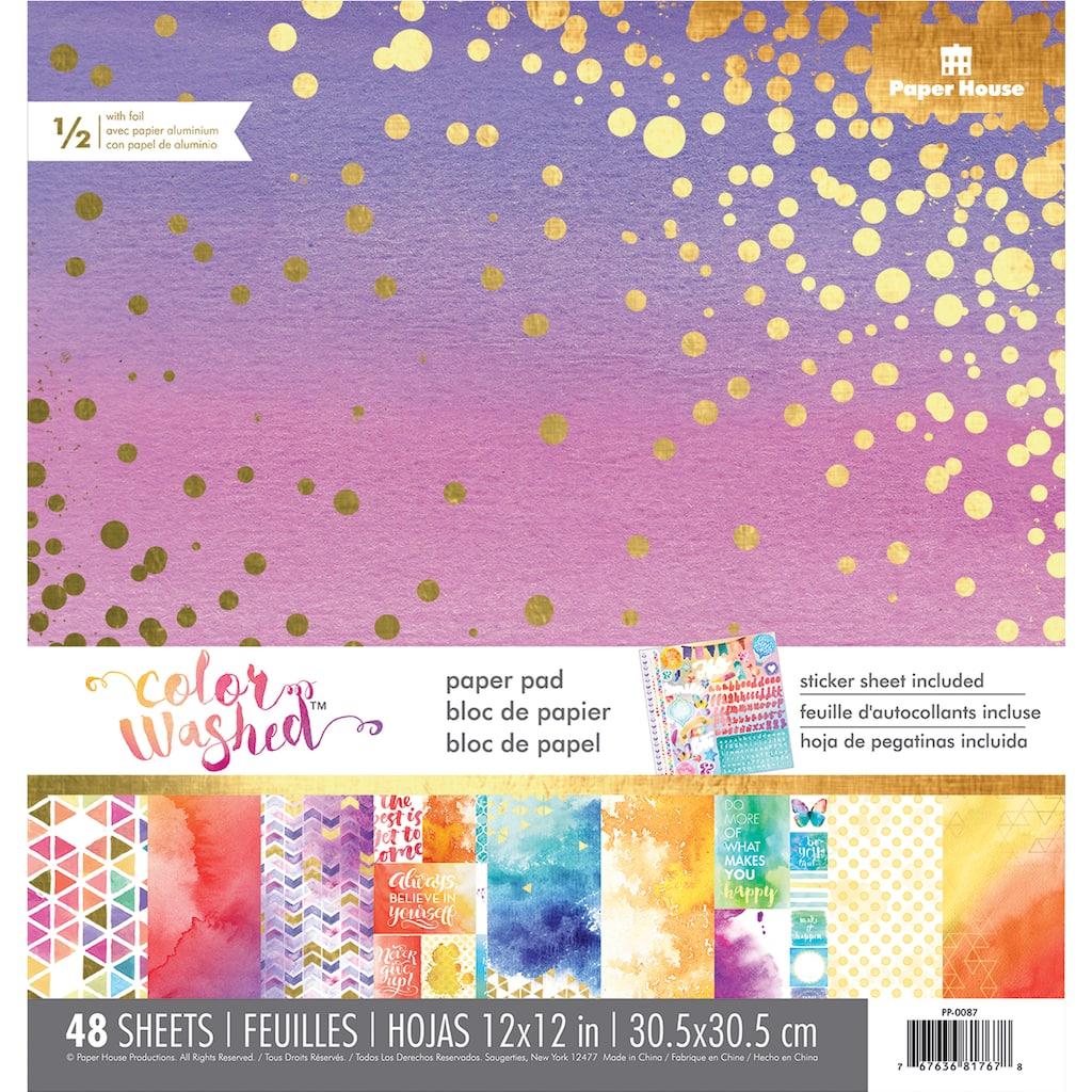 Shop for the Paper House® Color Washed™ Paper Pad at Michaels