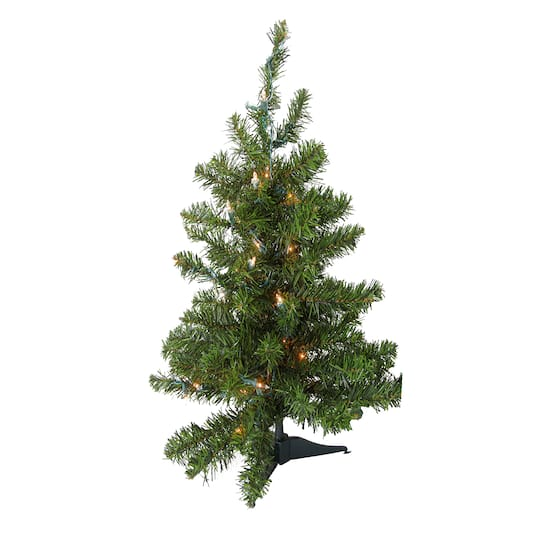 3 Foot Prelit Christmas Trees.3 Ft Pre Lit Natural Two Tone Pine Artificial Christmas Tree Clear Led Lights
