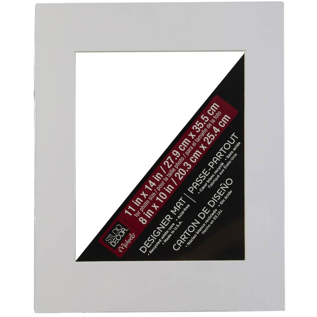 Studio D 233 Cor Pre Cut Single Mat 11 Quot Quot X 14 Quot Quot With 8 Quot Quot X