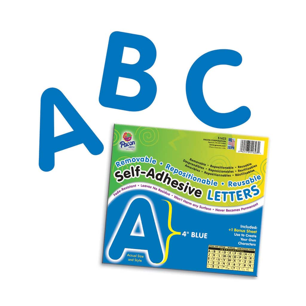 "4"" Self-Adhesive Letters, Blue"