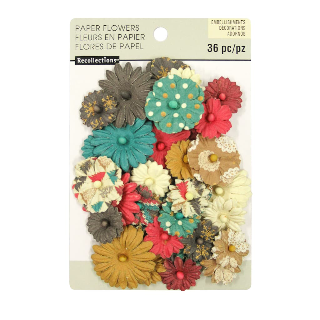 Buy The Printed Mixed Daisy Paper Flower Embellishments By