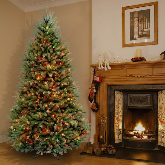 9ft Christmas Tree.9 Ft Pre Lit Dunhill Fir Full Artificial Christmas Tree Multicolor Lights