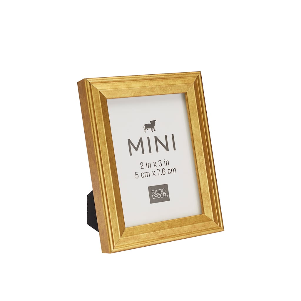 Shop for the Gold Mini Frame With Mat by Studio Décor® at Michaels