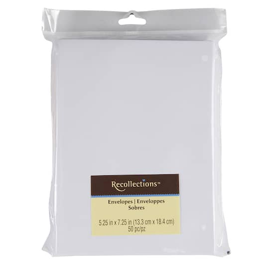 a7 white envelopes by recollections