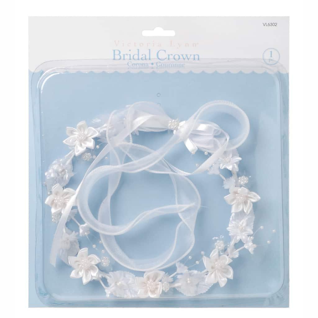 Victoria lynn white bridal floral crown white bridal floral crown img izmirmasajfo