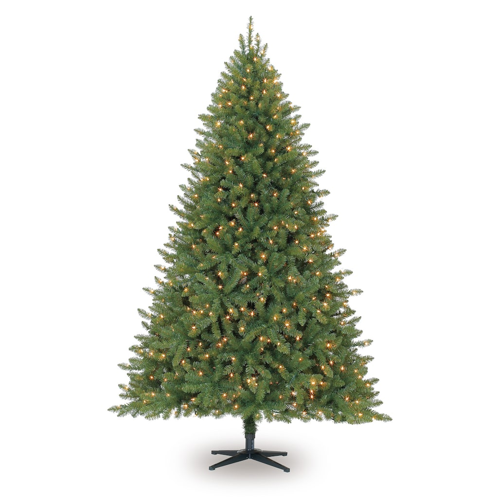 7.5ft. Pre-Lit Full Hartford Pine Artificial Christmas Tree, Clear ...