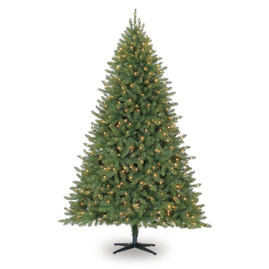 7 5ft Pre Lit Hartford Pine Artificial Christmas Tree Clear Lights By Ashland