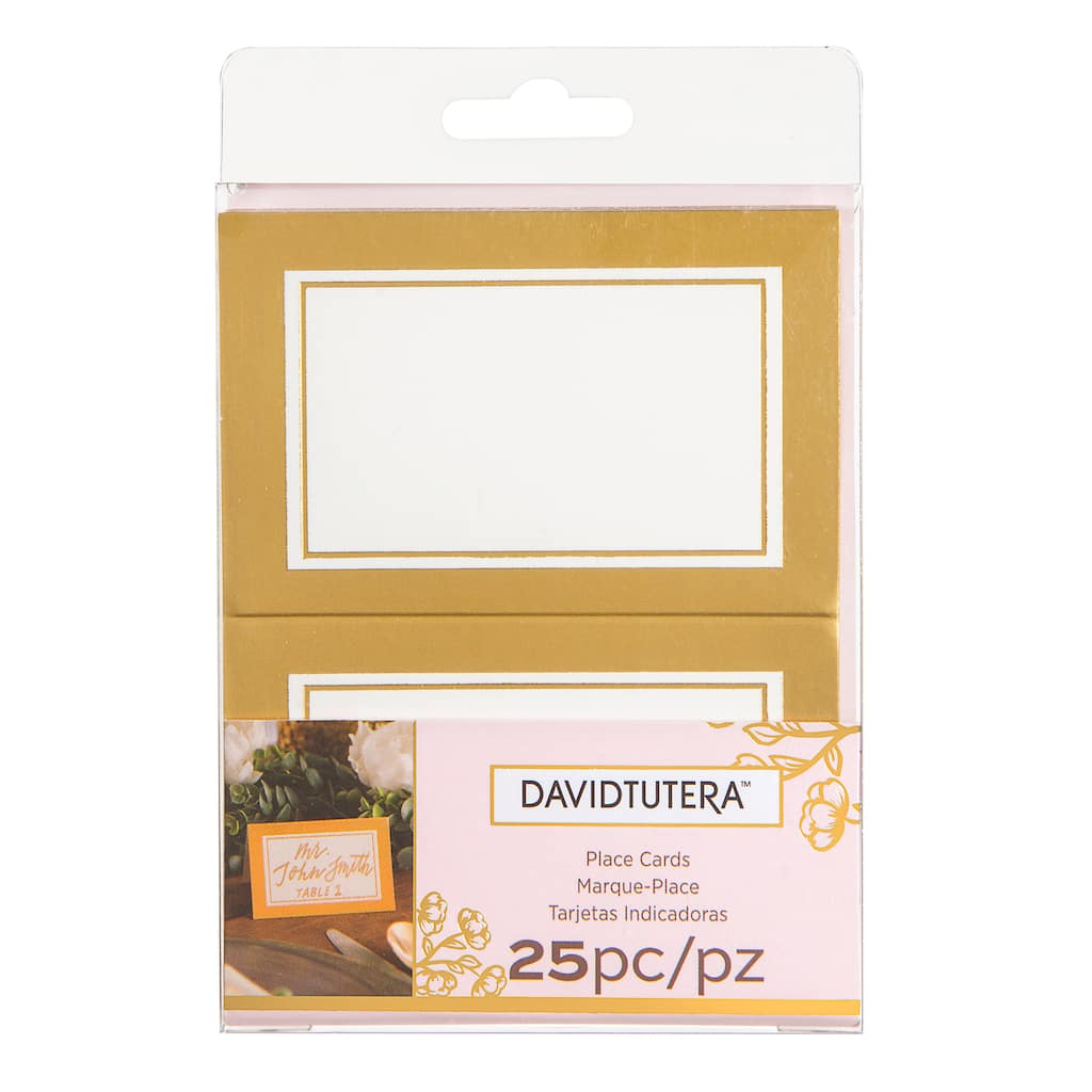 buy the david tutera gold place cards at michaels. Black Bedroom Furniture Sets. Home Design Ideas