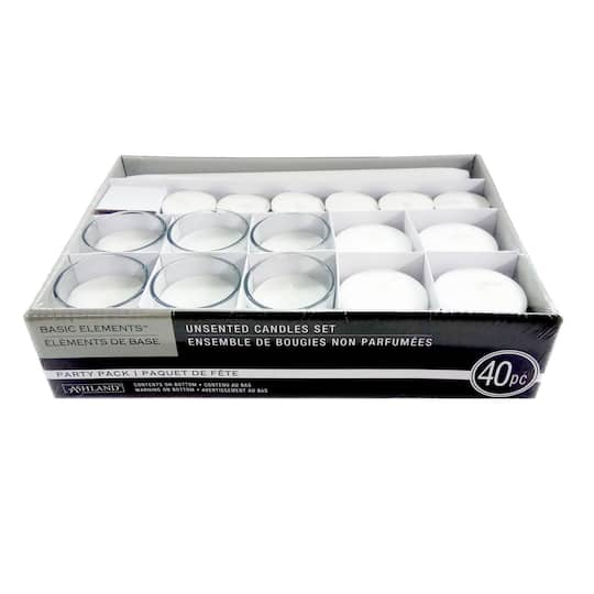find the white candle wax party pack by ashland at michaels. Black Bedroom Furniture Sets. Home Design Ideas