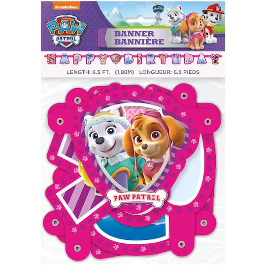 Girl PAW Patrol Birthday Banner 65 Ft
