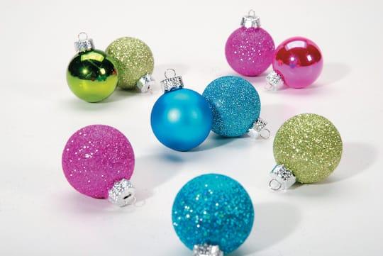 Christmas Ball Ornaments.Assorted Miniature Christmas Ball Ornaments 1