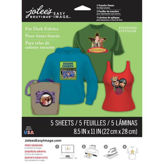 Jolee S Boutique 174 Iron On Transfer Paper For Colored Fabric