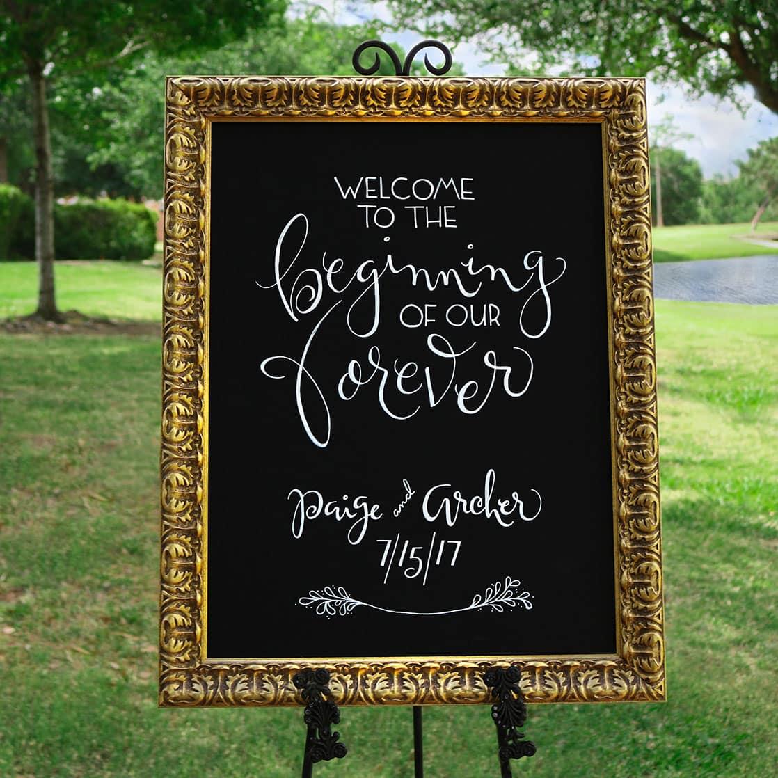 Wedding A Frame Chalkboard