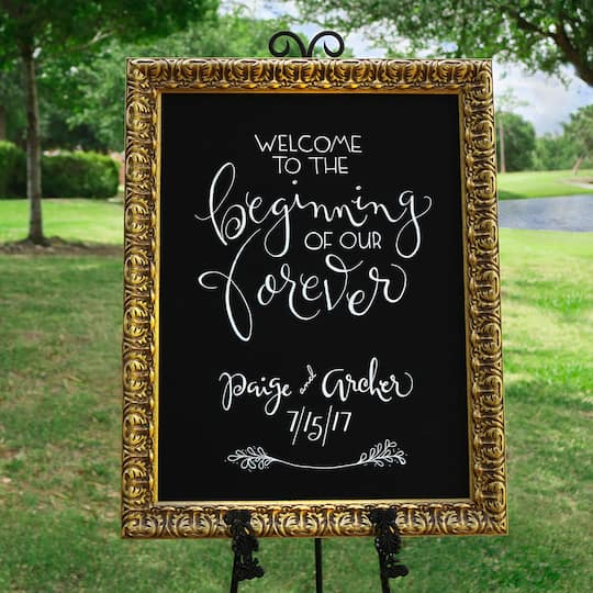 Custom Framed Chalkboard Wedding Sign