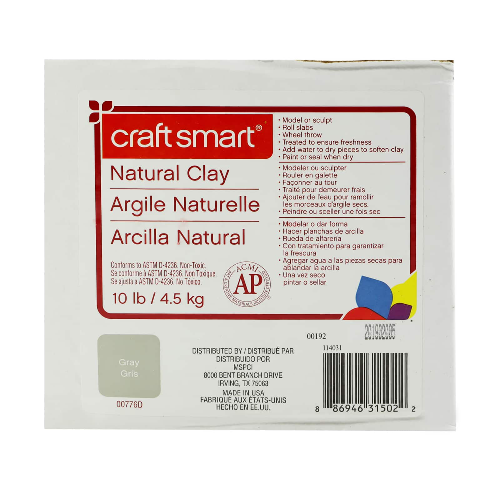 School Smart Air-Dry Clay 25 pounds Red
