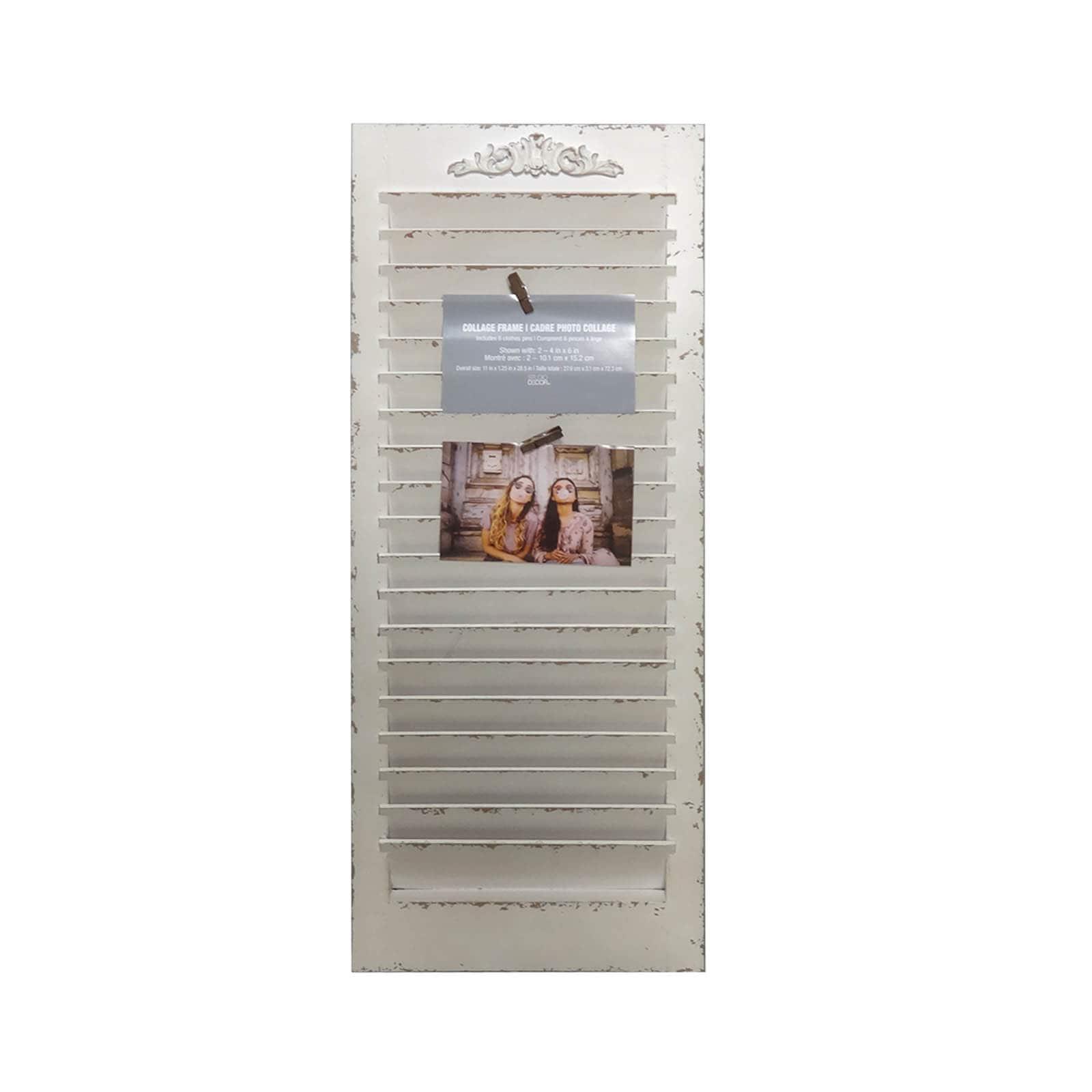White Window Shutter Frame Collage By Studio Decor