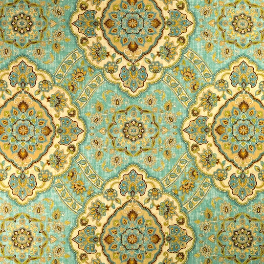 Buy The Essential Living Piper Aqua Home Decor Fabric At Michaels