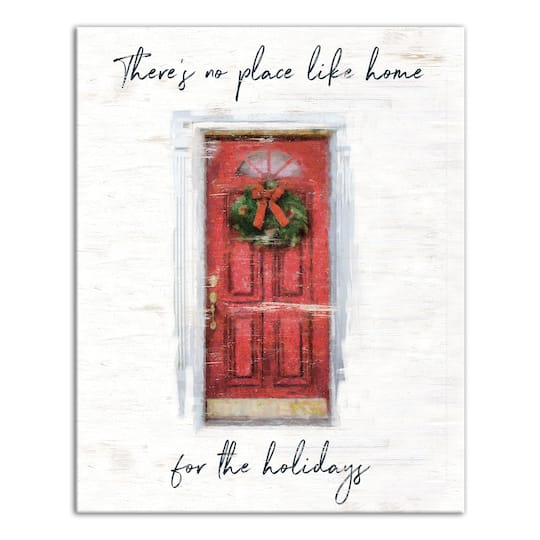 Shop The Theres No Place Like Home For The Holidays Canvas Wall Art