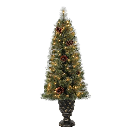 pre lit concord cashmere artificial christmas tree clear lights by ashland