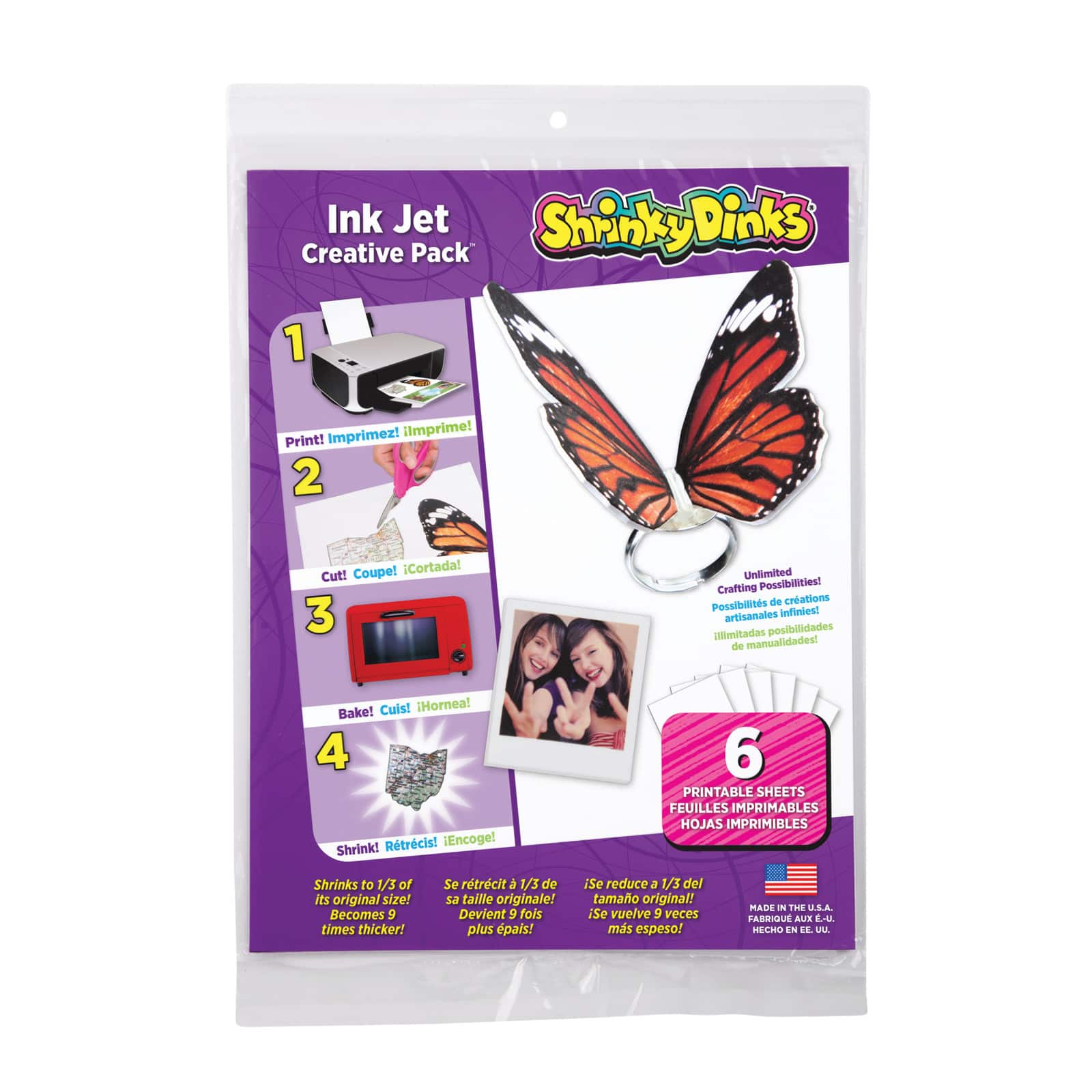 photograph regarding Printable Shrink Plastic referred to as Shrinky Dinks® Ink Jet Pack, 6ct.
