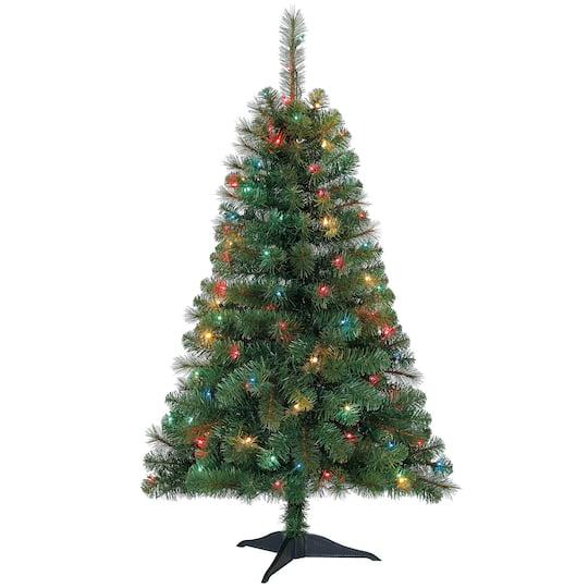 4ft. Pre-Lit Riverside Pine Artificial Christmas Tree, Multicolor Lights by  Ashland™ - 4ft. Pre-Lit Riverside Pine Artificial Christmas Tree, Multicolor