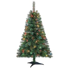 fe8a747516f8f 4ft. pre-lit riverside pine artificial christmas tree, multicolor lights by  ashland®