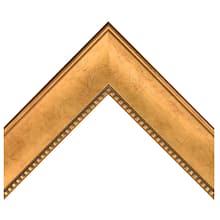 Gold W Square Bead Lip Custom Frame