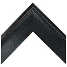 Black Pine Distressed Scoop Custom Frame