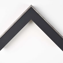 Black Matte with Pewter Edge Custome Frame