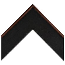 Medium Walnut Black Fabric Wrapped Custom Frame