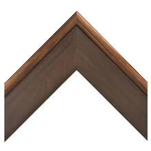 Dark Walnut With Bronze Trim Custom Frame