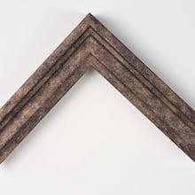Mocha Burlap Step Custom Frame