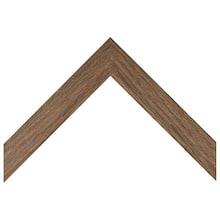 Flat Medium Brown Oak Wood Custom Frame