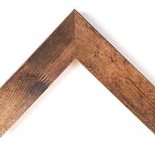 Distressed Walnut Scoop Custom Frame