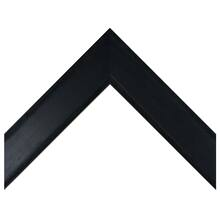 Medium Flat Black Distressed Custom Frame