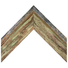 Green Barnwood With Silver Custom Frame