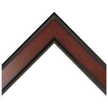 Black With Mahogany Panel Custom Frame